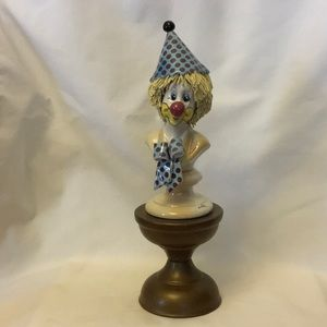 Clown Statue on Pedestal